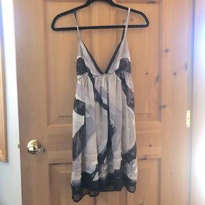 UO Sparkle + Fade Watercolour Sheer Cami Dress